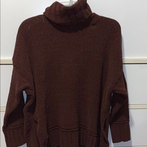 AERIE Burgundy SUPER Soft Turtleneck sweater